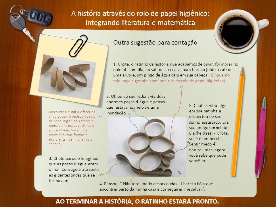 A história através do rolo de papel higiênico: integrando literatura e matemática Outra sugestão para contação 1. Chote, o ratinho da história que aca