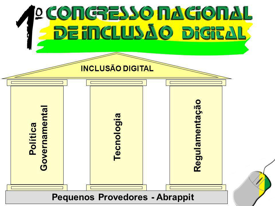 INCLUSÃO DIGITAL Política Governamental Pequenos Provedores - Abrappit Tecnologia Regulamentação