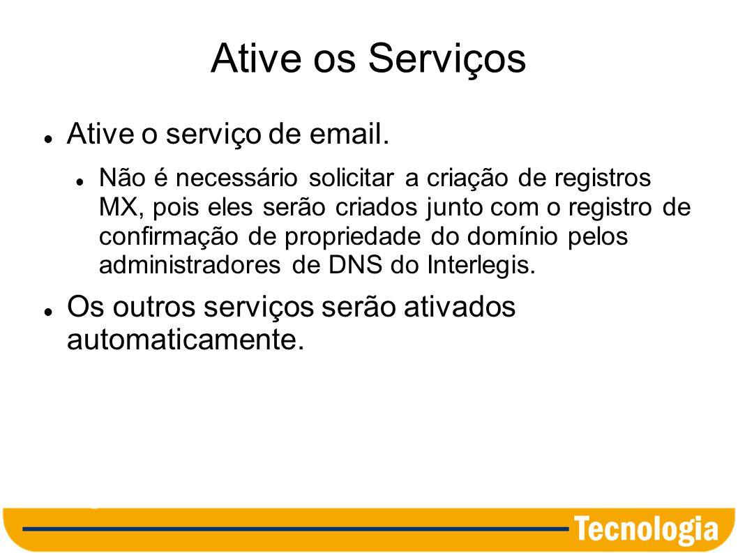 Configure os Endereços de Acesso O endereço padrão para acesso é ao correio eletrônico é: http://mail.google.com/a/camara123.uf.gov.br Nas configurações de email, altere a URL de Acesso para: correio.camara123.uf.gov.br Não é necessário solicitar o cadastro do registro cname (correio cname ghs.google.com), pois ele já está criado.