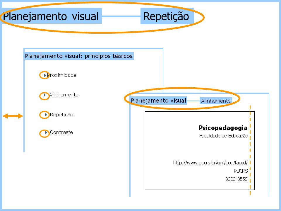 Repetição Planejamento visual