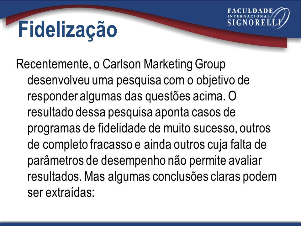 Recentemente, o Carlson Marketing Group desenvolveu uma pesquisa com o objetivo de responder algumas das questões acima. O resultado dessa pesquisa ap