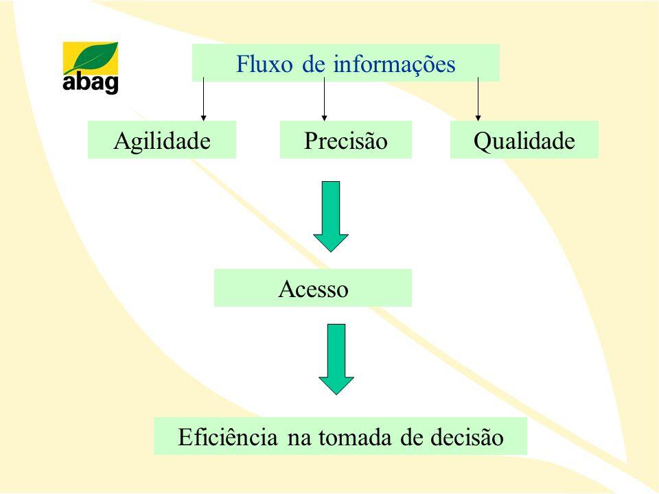 Fluxo de informações AgilidadePrecisãoQualidade Eficiência na tomada de decisão Acesso