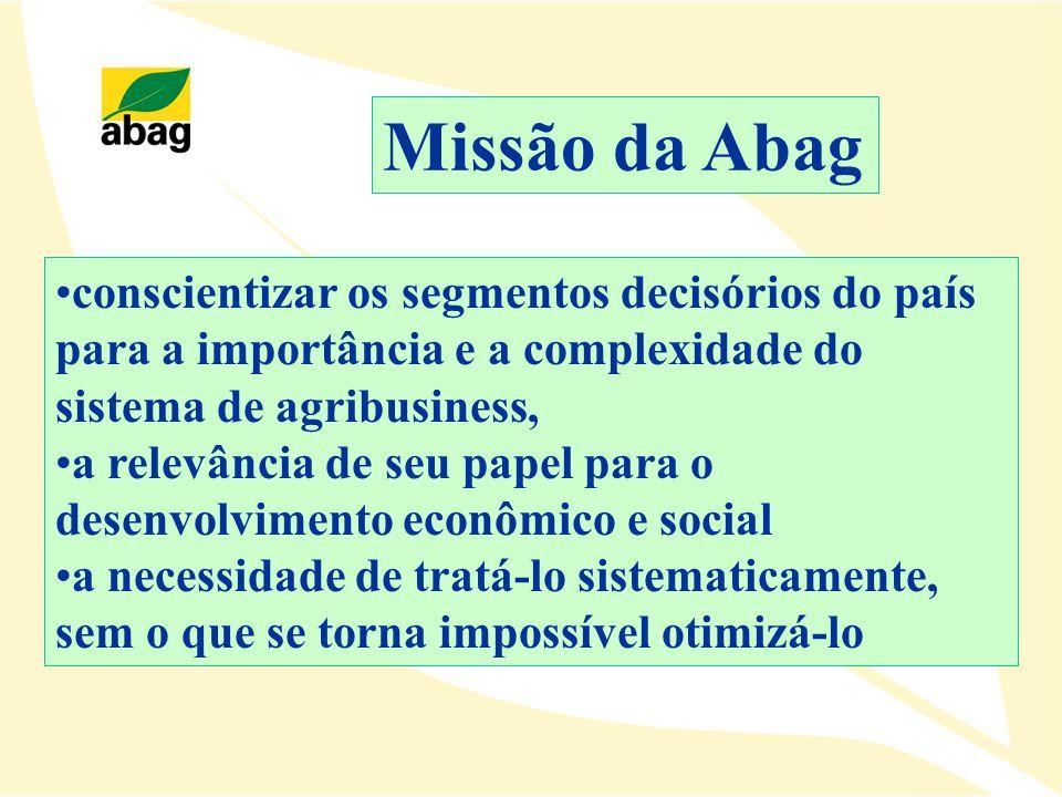 conscientizar os segmentos decisórios do país para a importância e a complexidade do sistema de agribusiness, a relevância de seu papel para o desenvo