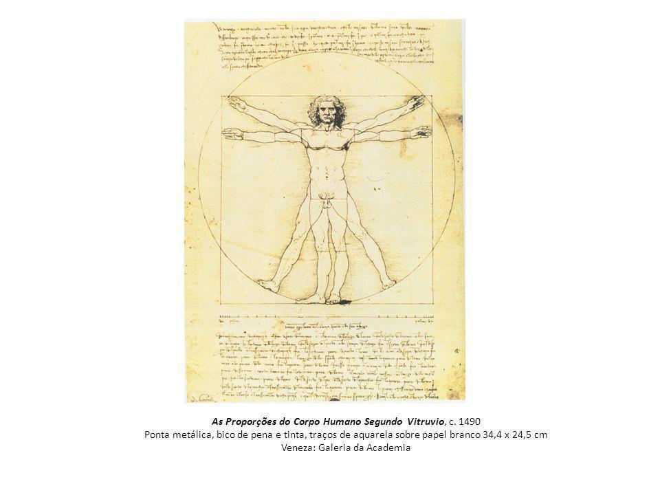 As Proporções do Corpo Humano Segundo Vitruvio, c.