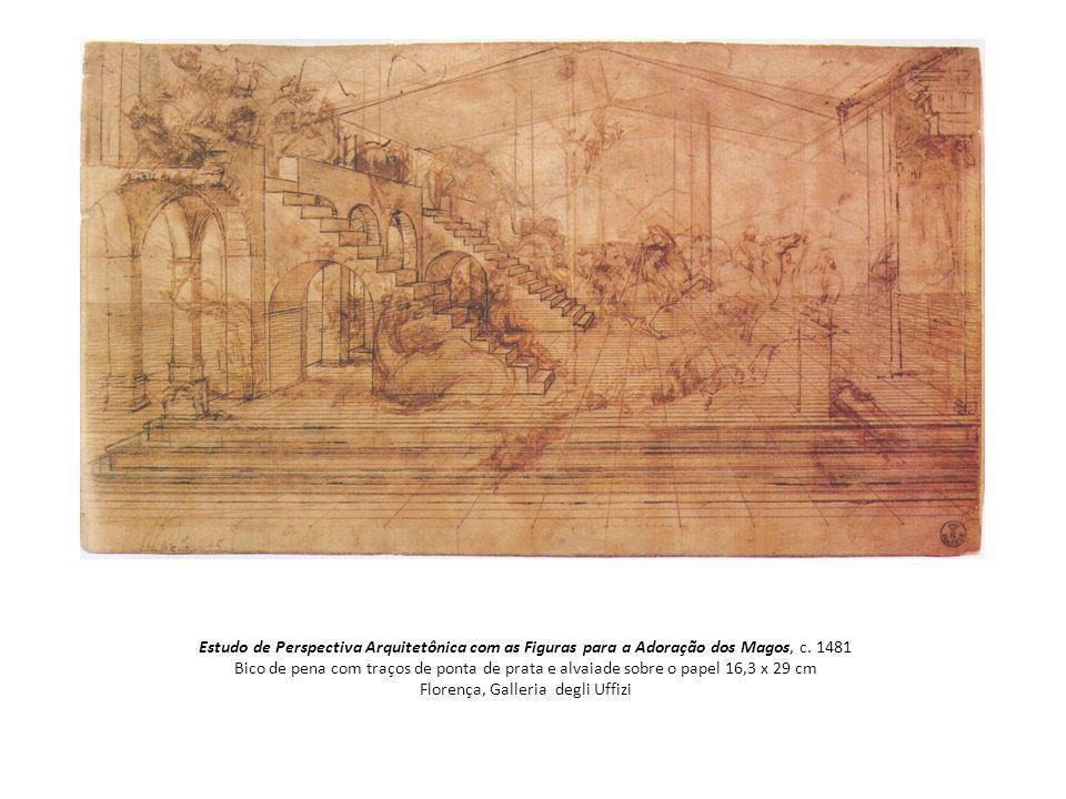 Estudo de Perspectiva Arquitetônica com as Figuras para a Adoração dos Magos, c.