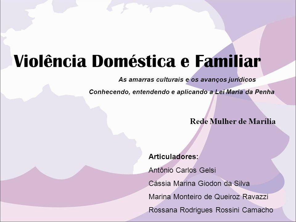 Violência Doméstica e Familiar Conhecendo, entendendo e aplicando a Lei Maria da Penha Articuladores: Antônio Carlos Gelsi Cássia Marina Giodon da Sil