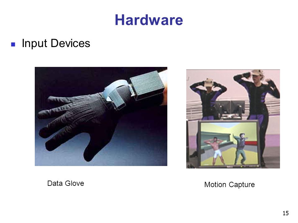 15 Hardware Input Devices Data Glove Motion Capture