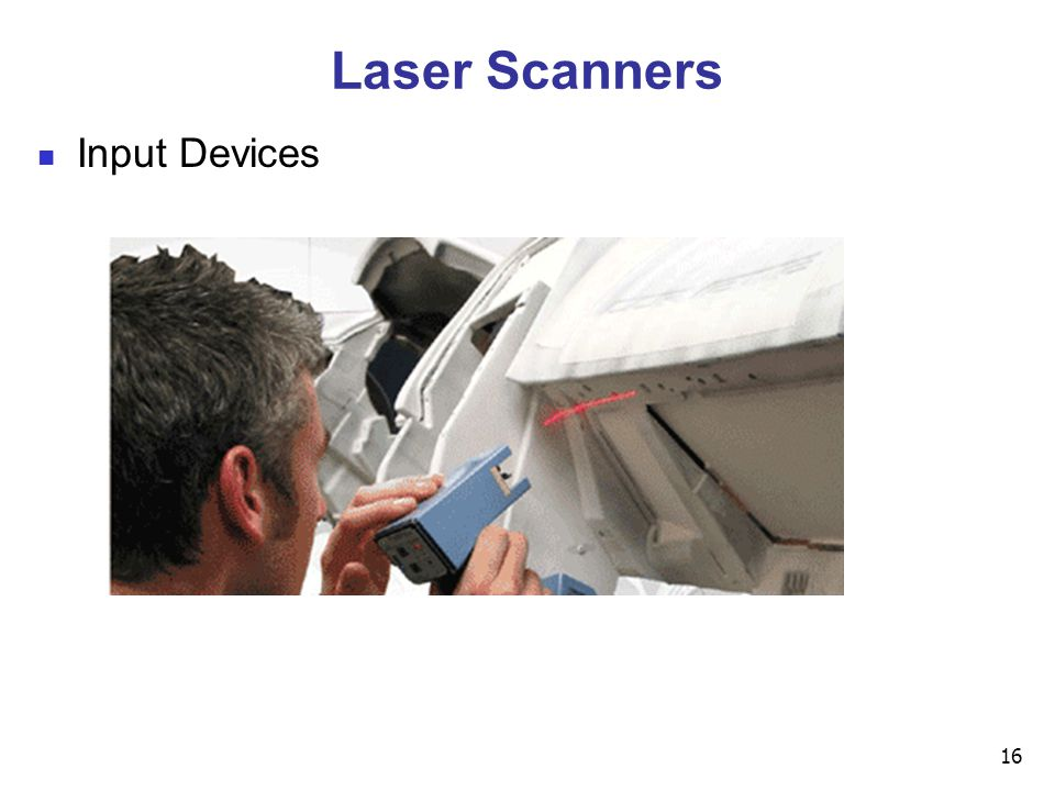 16 Laser Scanners Input Devices