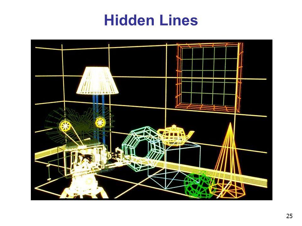 25 Hidden Lines