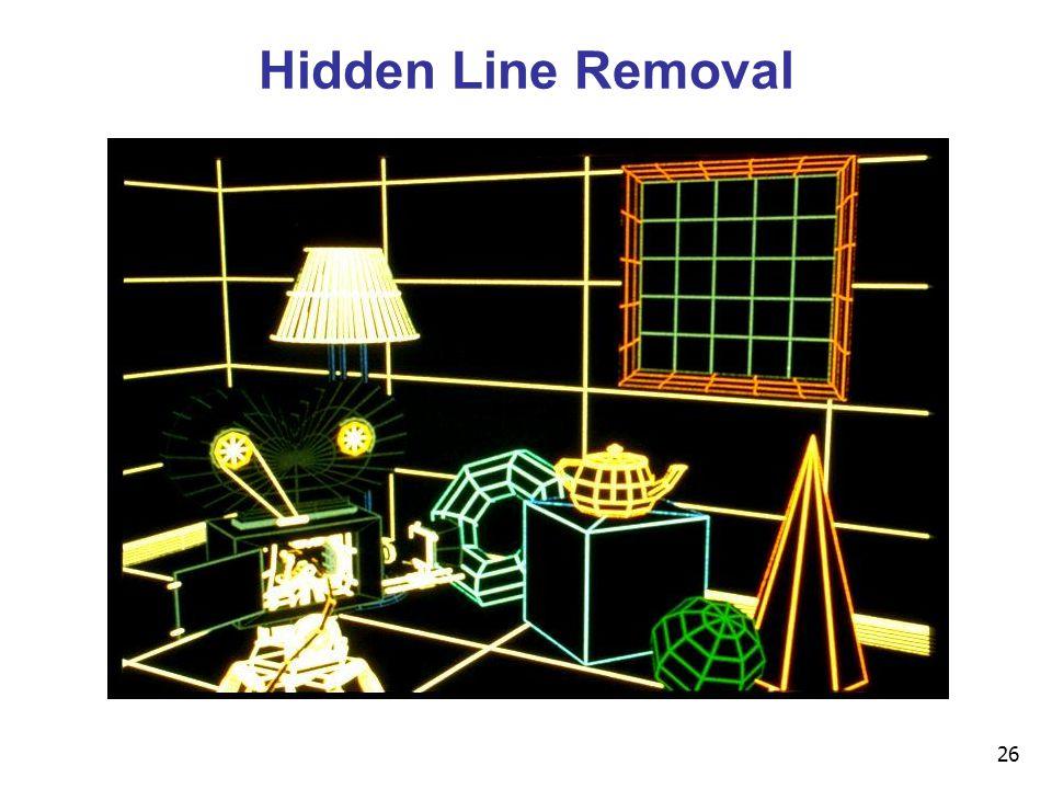 26 Hidden Line Removal