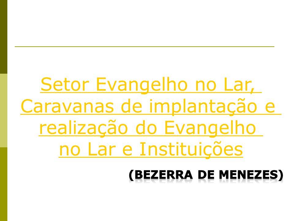 Setor Evangelho no Lar, Caravanas de implantação e realização do Evangelho no Lar e Instituições