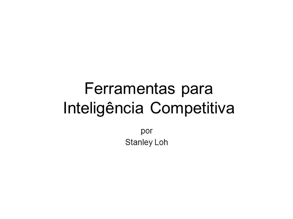 Ferramentas para Inteligência Competitiva por Stanley Loh