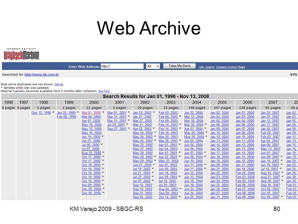 KM Varejo 2009 - SBGC-RS80 Web Archive