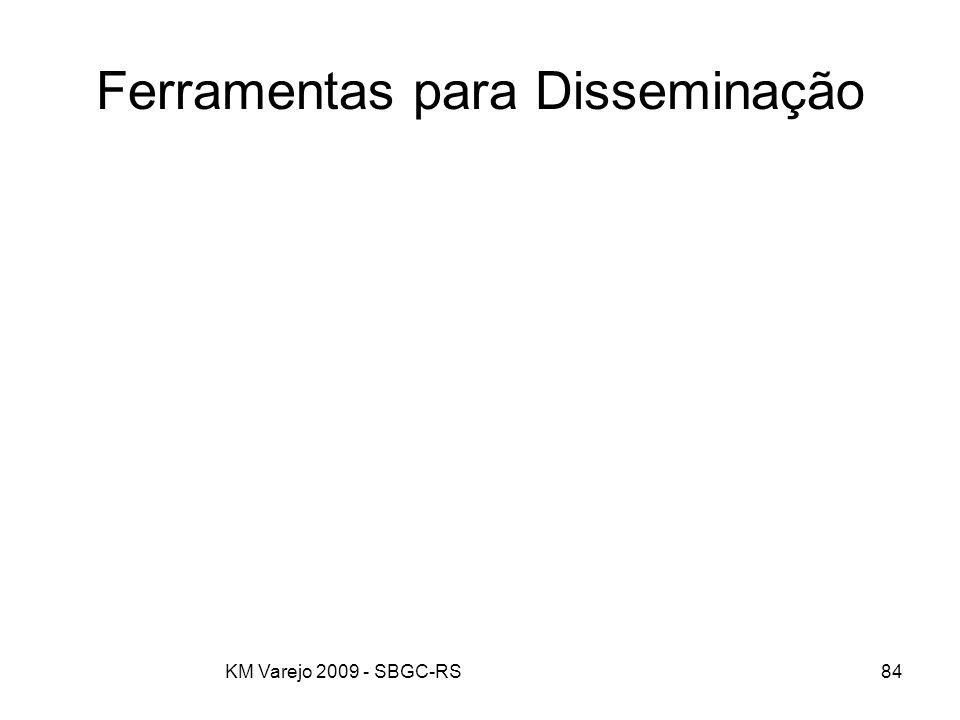 KM Varejo 2009 - SBGC-RS84 Ferramentas para Disseminação