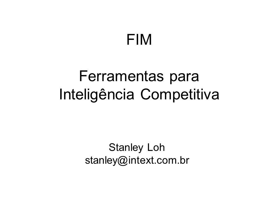FIM Ferramentas para Inteligência Competitiva Stanley Loh stanley@intext.com.br