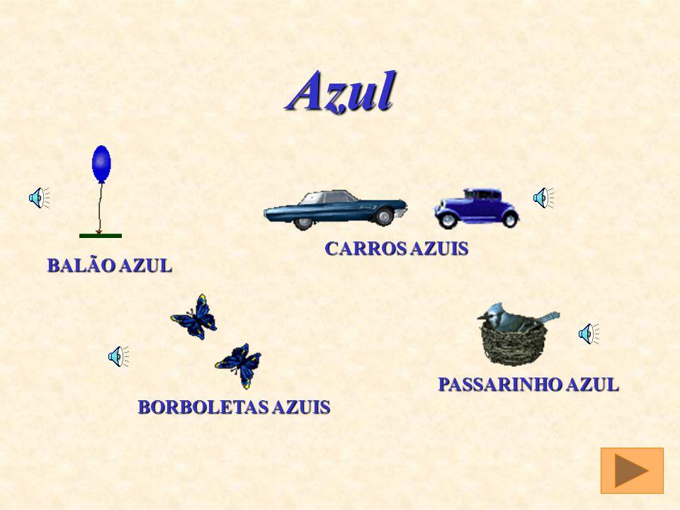 Azul BALÃO AZUL CARROS AZUIS BORBOLETAS AZUIS PASSARINHO AZUL