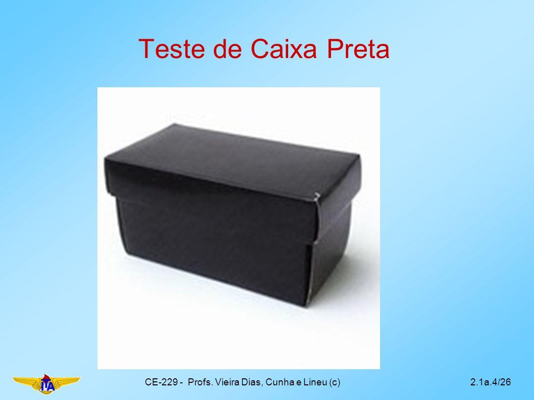 Teste de Caixa Preta CE-229 - Profs. Vieira Dias, Cunha e Lineu (c)2.1a.4/26
