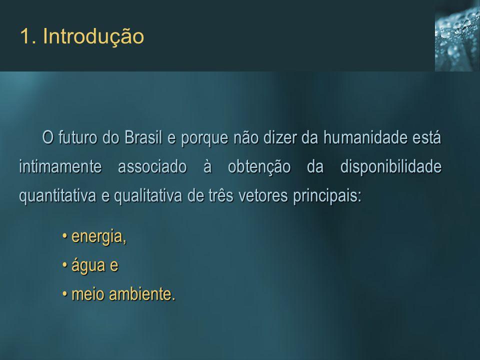 O futuro do Brasil e porque não dizer da humanidade está intimamente associado à obtenção da disponibilidade quantitativa e qualitativa de três vetore