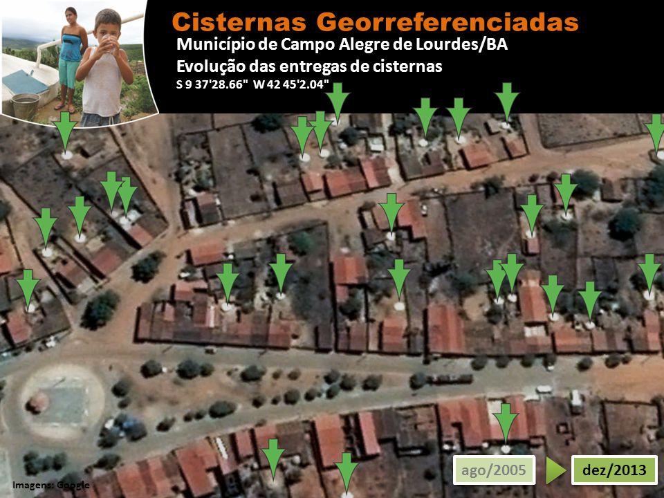 Município de Campo Alegre de Lourdes/BA Evolução das entregas de cisternas S 9 37'28.66