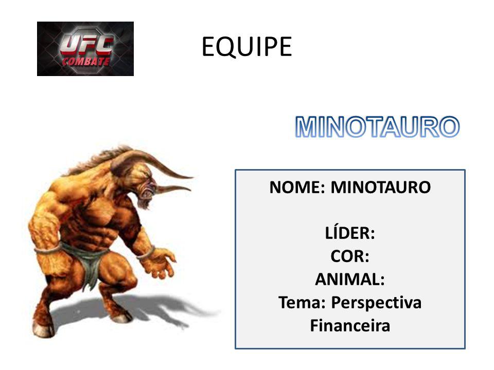 EQUIPE NOME: MINOTAURO LÍDER: COR: ANIMAL: Tema: Perspectiva Financeira