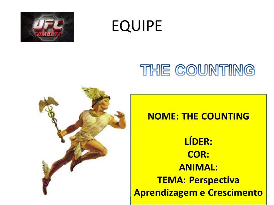 EQUIPE NOME: THE COUNTING LÍDER: COR: ANIMAL: TEMA: Perspectiva Aprendizagem e Crescimento