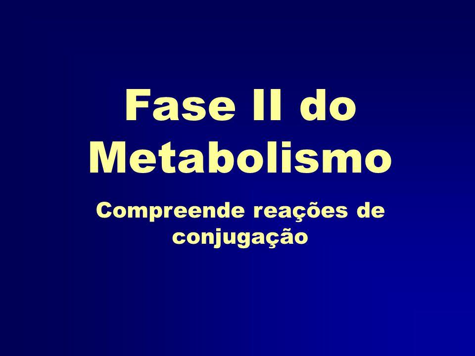 Fase II do Metabolismo Compreende reações de conjugação