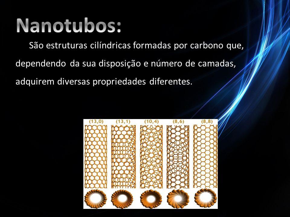 São estruturas cilíndricas formadas por carbono que, dependendo da sua disposição e número de camadas, adquirem diversas propriedades diferentes.