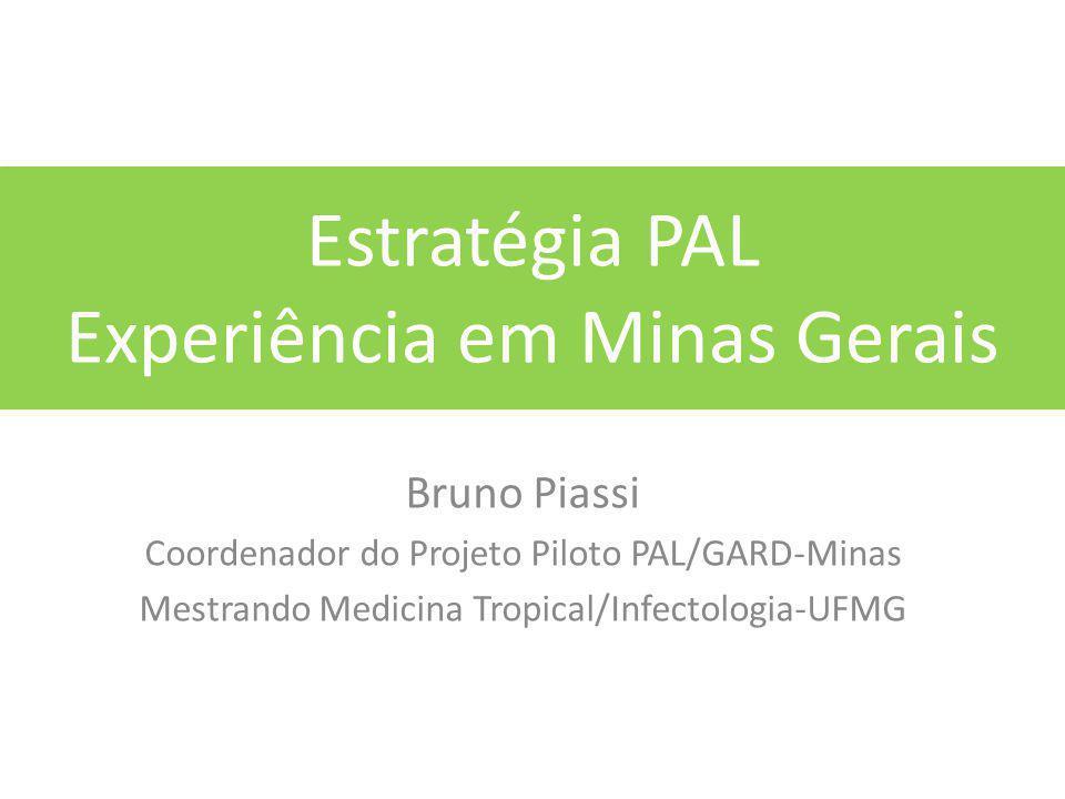 Estratégia PAL Experiência em Minas Gerais Bruno Piassi Coordenador do Projeto Piloto PAL/GARD-Minas Mestrando Medicina Tropical/Infectologia-UFMG