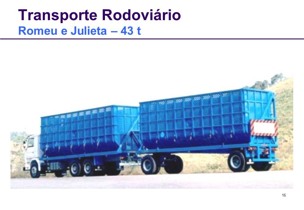 16 Transporte Rodoviário Romeu e Julieta – 43 t