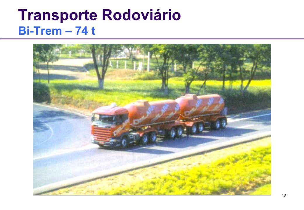19 Transporte Rodoviário Bi-Trem – 74 t