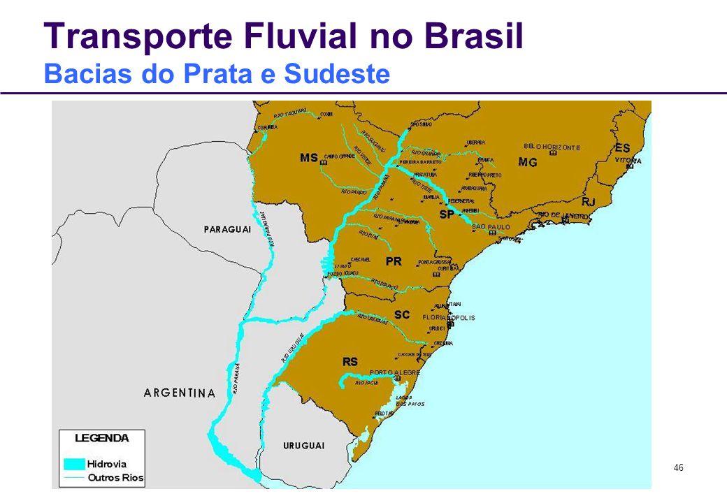 46 Transporte Fluvial no Brasil Bacias do Prata e Sudeste