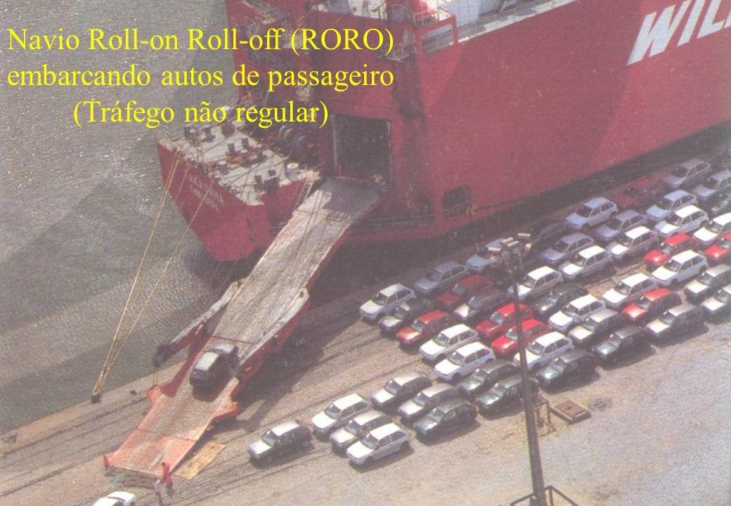 53 Navio Roll-on Roll-off (RORO) embarcando autos de passageiro (Tráfego não regular)