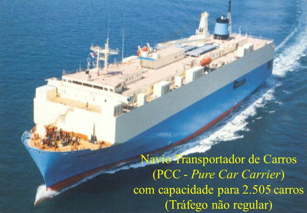 54 Navio Transportador de Carros (PCC - Pure Car Carrier) com capacidade para 2.505 carros (Tráfego não regular)