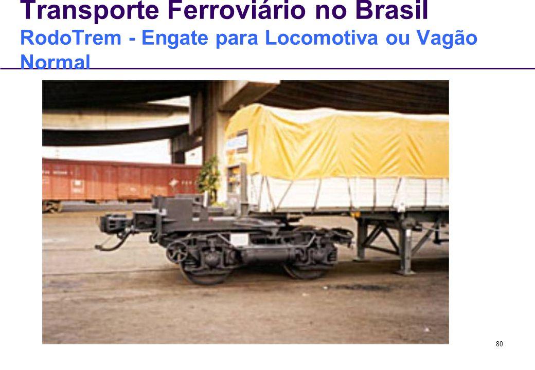 80 Transporte Ferroviário no Brasil RodoTrem - Engate para Locomotiva ou Vagão Normal