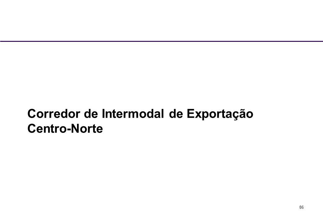86 Corredor de Intermodal de Exportação Centro-Norte