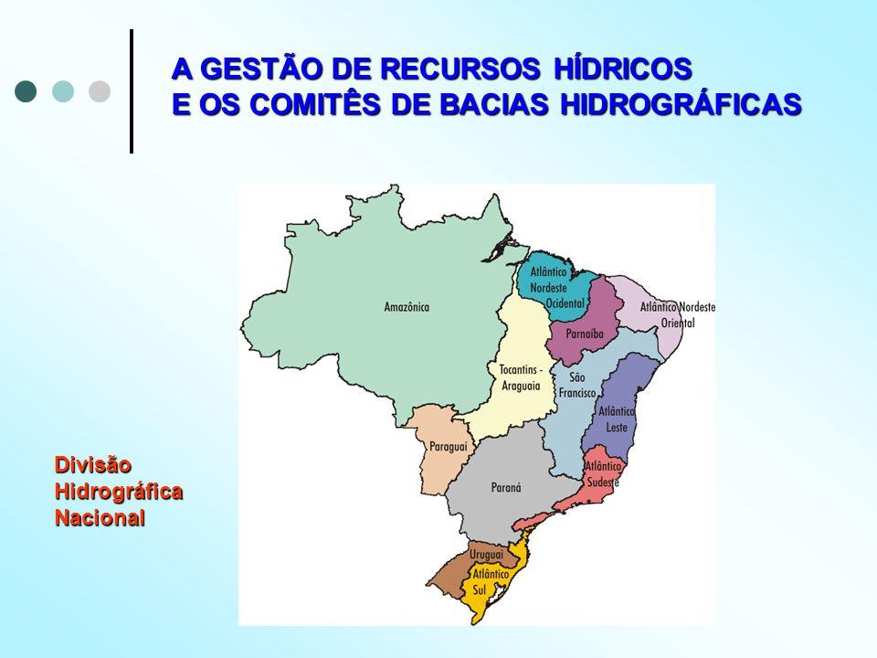 A GESTÃO DE RECURSOS HÍDRICOS E OS COMITÊS DE BACIAS HIDROGRÁFICAS