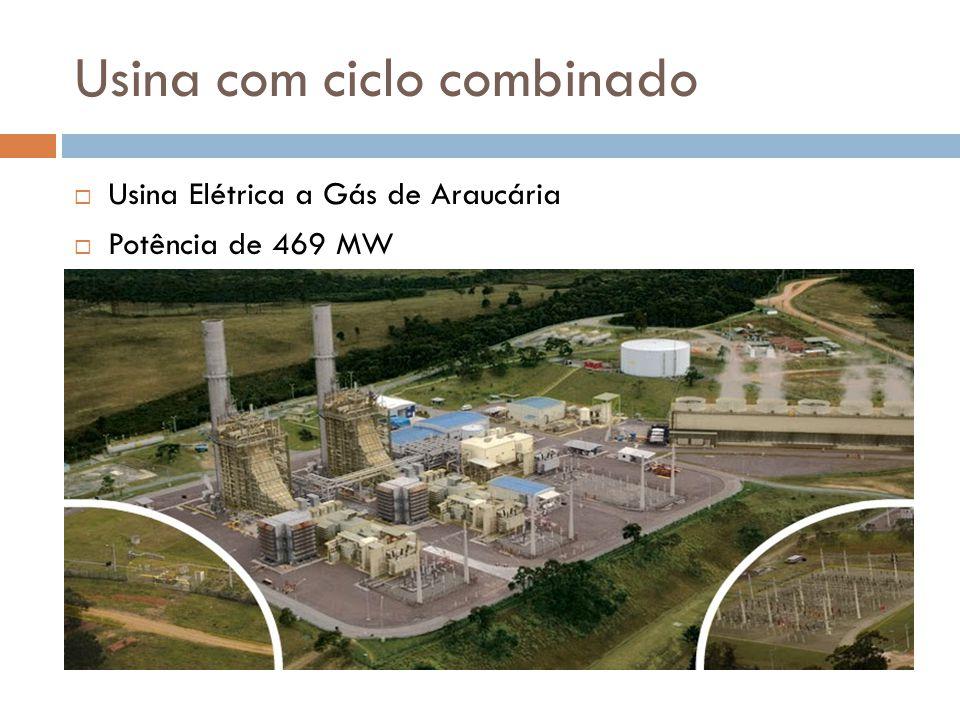 Usina com ciclo combinado  Usina Elétrica a Gás de Araucária  Potência de 469 MW