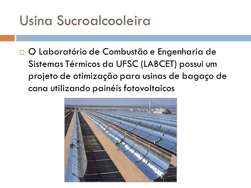  O Laboratório de Combustão e Engenharia de Sistemas Térmicos da UFSC (LABCET) possui um projeto de otimização para usinas de bagaço de cana utilizan