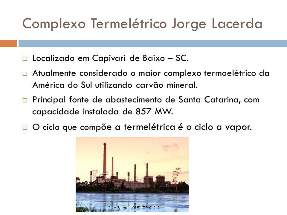 Complexo Termelétrico Jorge Lacerda  Localizado em Capivari de Baixo – SC.  Atualmente considerado o maior complexo termoelétrico da América do Sul