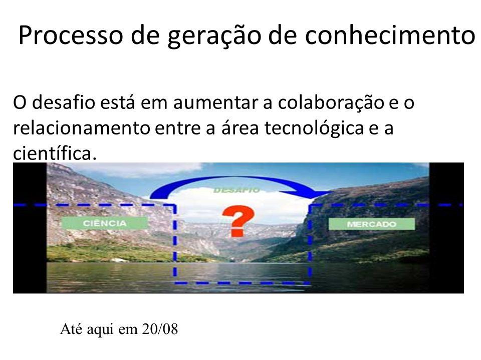O desafio está em aumentar a colaboração e o relacionamento entre a área tecnológica e a científica.