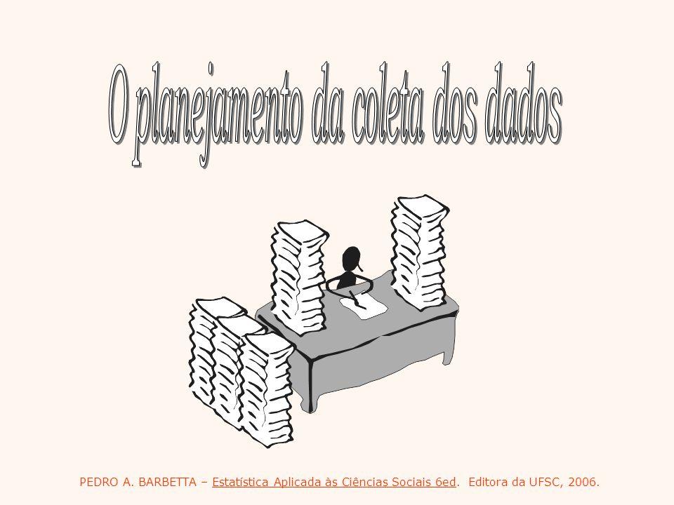 PEDRO A. BARBETTA – Estatística Aplicada às Ciências Sociais 6ed. Editora da UFSC, 2006.