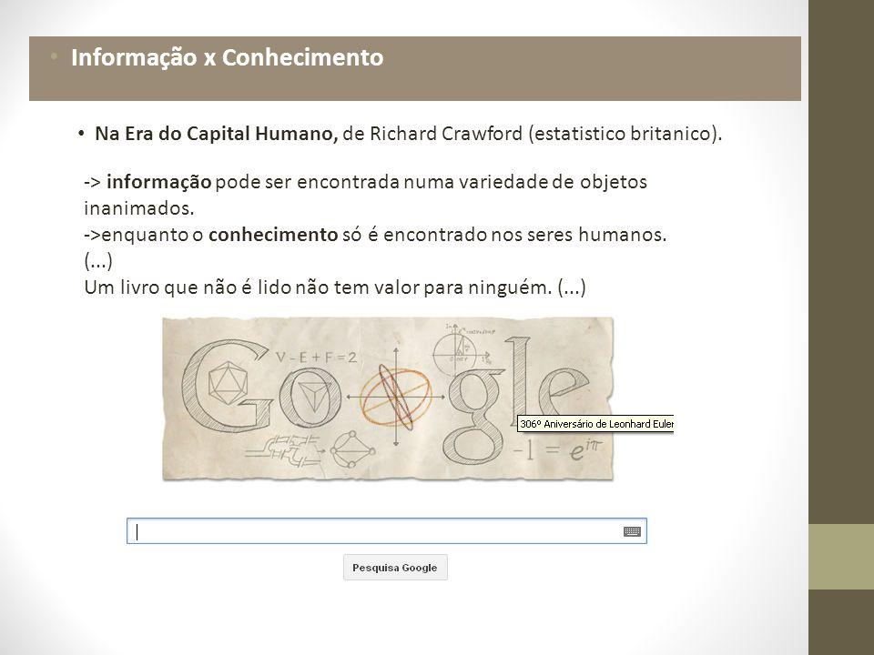 Na Era do Capital Humano, de Richard Crawford (estatistico britanico).