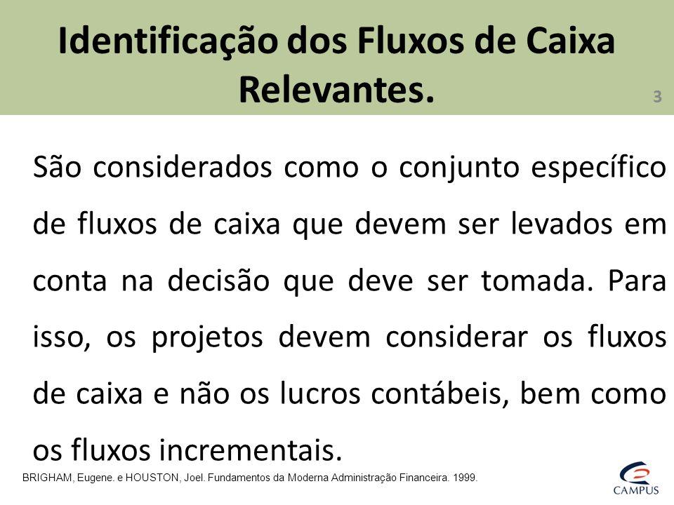 Identificação dos Fluxos de Caixa Relevantes.