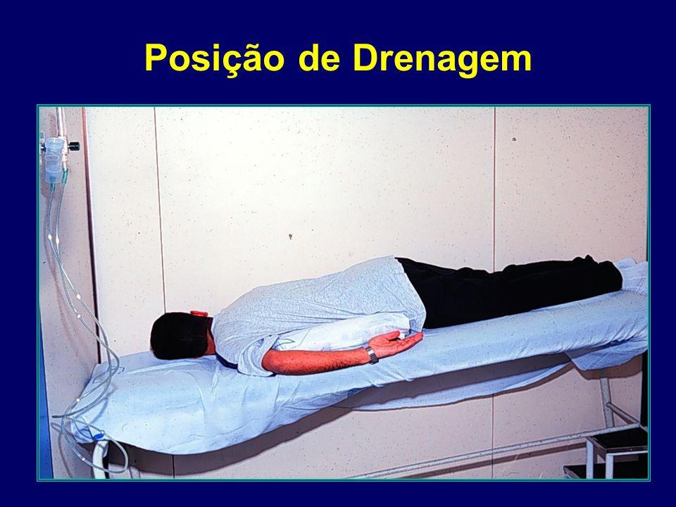 Percussão Torácica Forma TAPOTAGEM (mãos em concha) PUNHO-PERCUSSÃO região cubital mãos fechadas uma mão sobre a outra Instrumentos equipamentos adaptados máscaras de anestesia percussores mecanicos