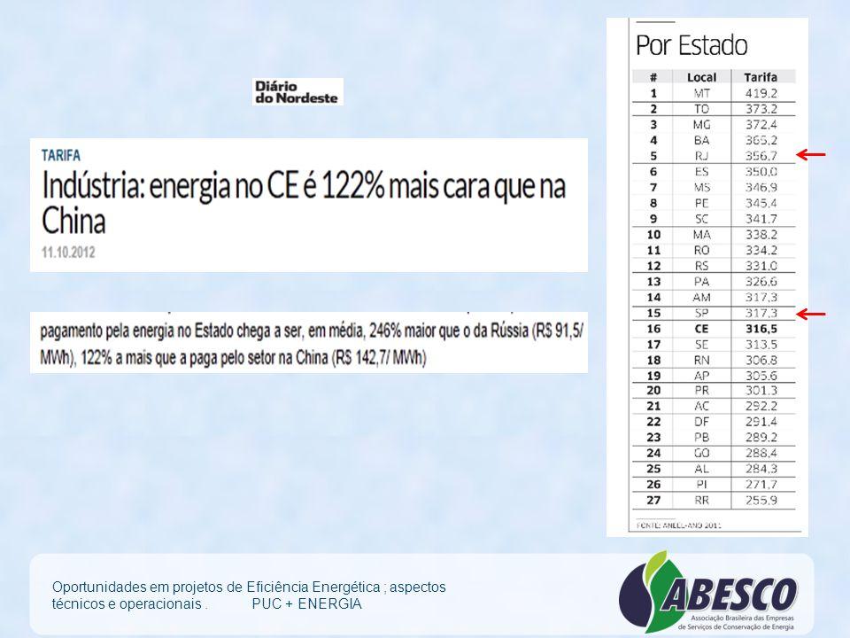 Mais vantagens da EE: – Período de implantação menor que um ano – Incremento da qualidade de energia e produtividade com renovação de instalações – Se