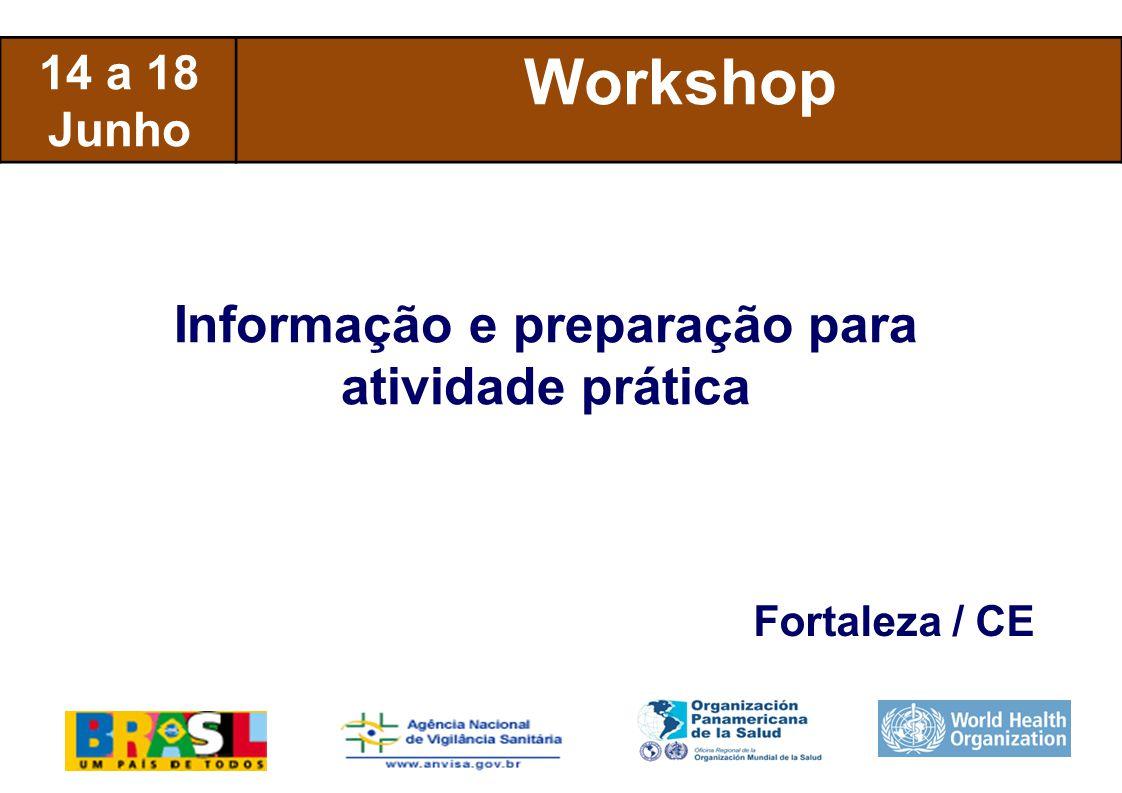 International Health Regulations 14 a 18 Junho Workshop Informação e preparação para atividade prática Fortaleza / CE