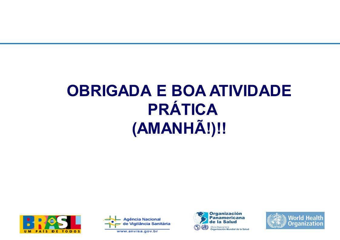 International Health Regulations OBRIGADA E BOA ATIVIDADE PRÁTICA (AMANHÃ!)!!
