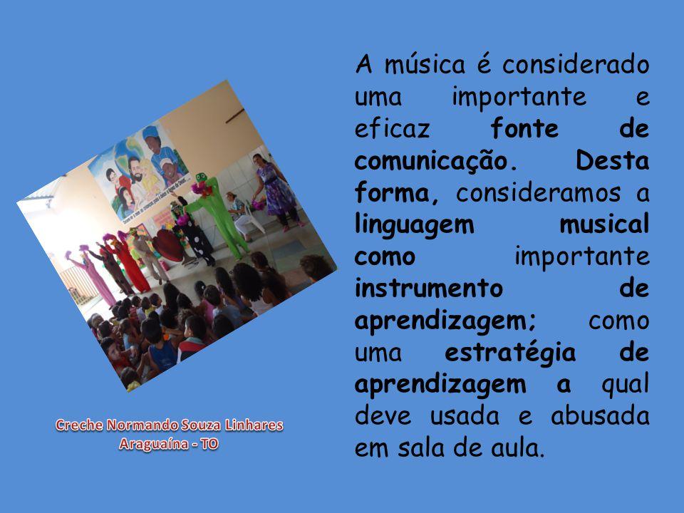 A música é considerado uma importante e eficaz fonte de comunicação. Desta forma, consideramos a linguagem musical como importante instrumento de apre
