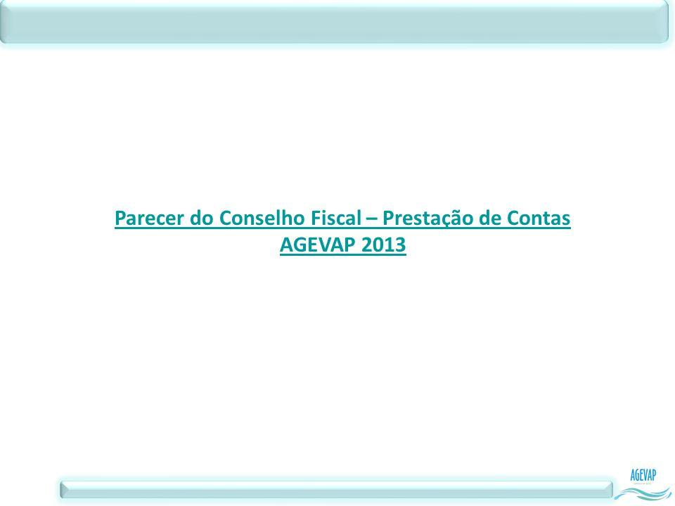 Parecer do Conselho Fiscal – Prestação de Contas AGEVAP 2013