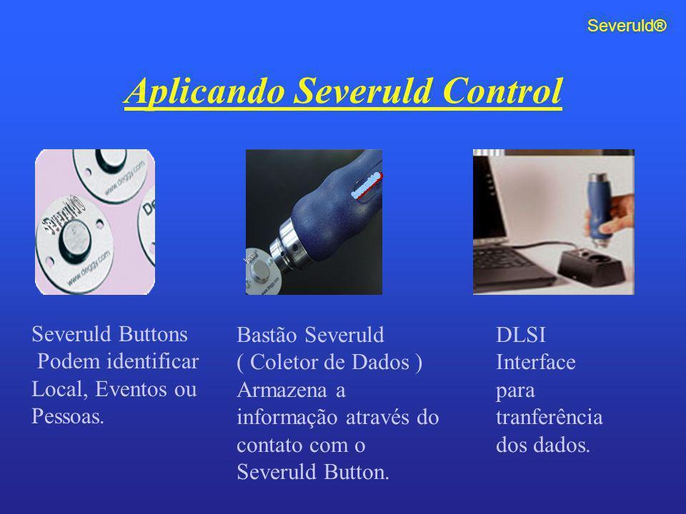 Aplicando Severuld Control Severuld Buttons Podem identificar Local, Eventos ou Pessoas. Bastão Severuld ( Coletor de Dados ) Armazena a informação at